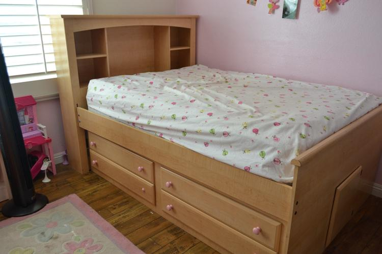 Full Captains Bookcase Bed with 4-Drawer Unit