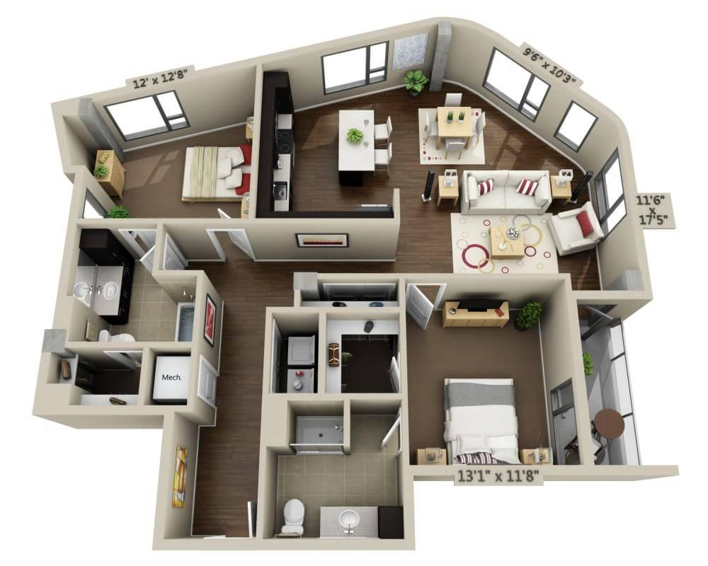 $6420 Two bedroom Apartment for rent