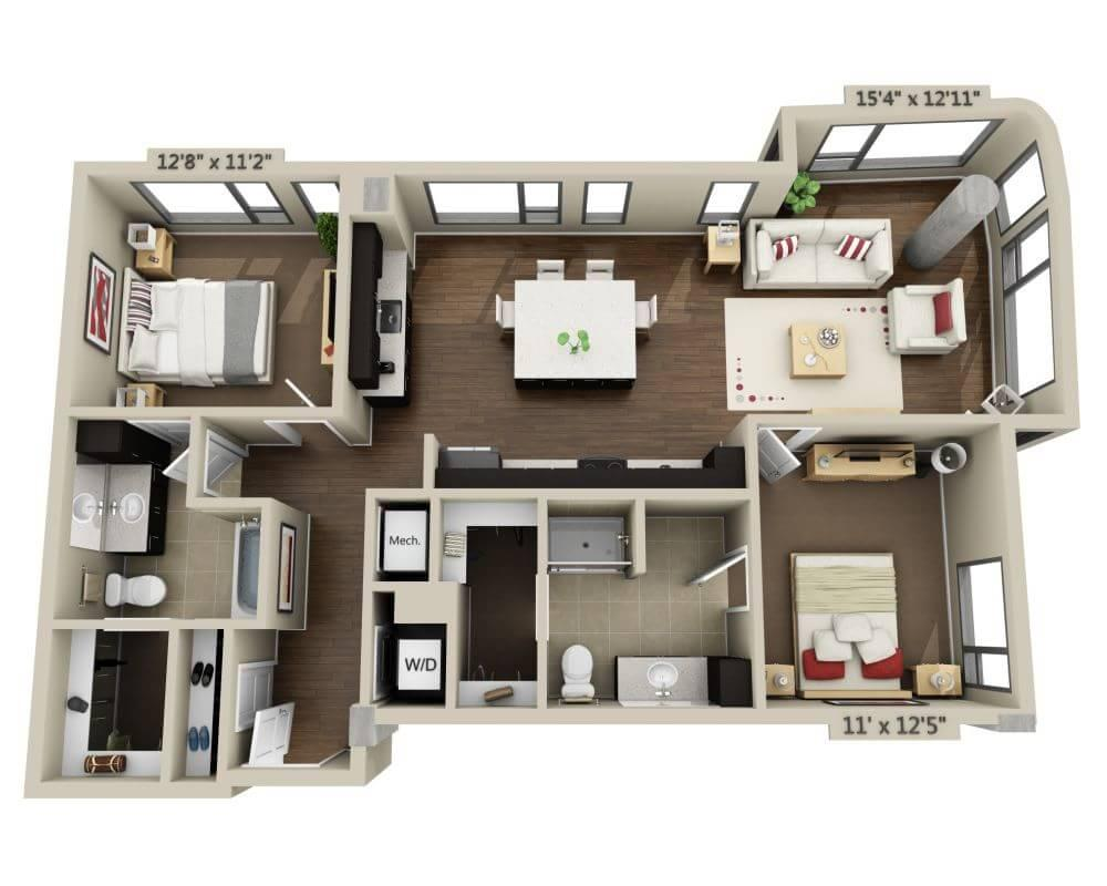 $5137 Two bedroom Apartment for rent