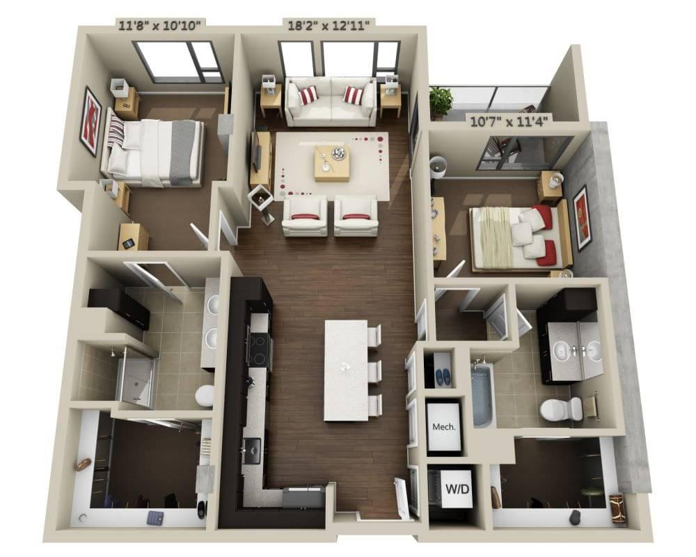 $5109 Two bedroom Apartment for rent