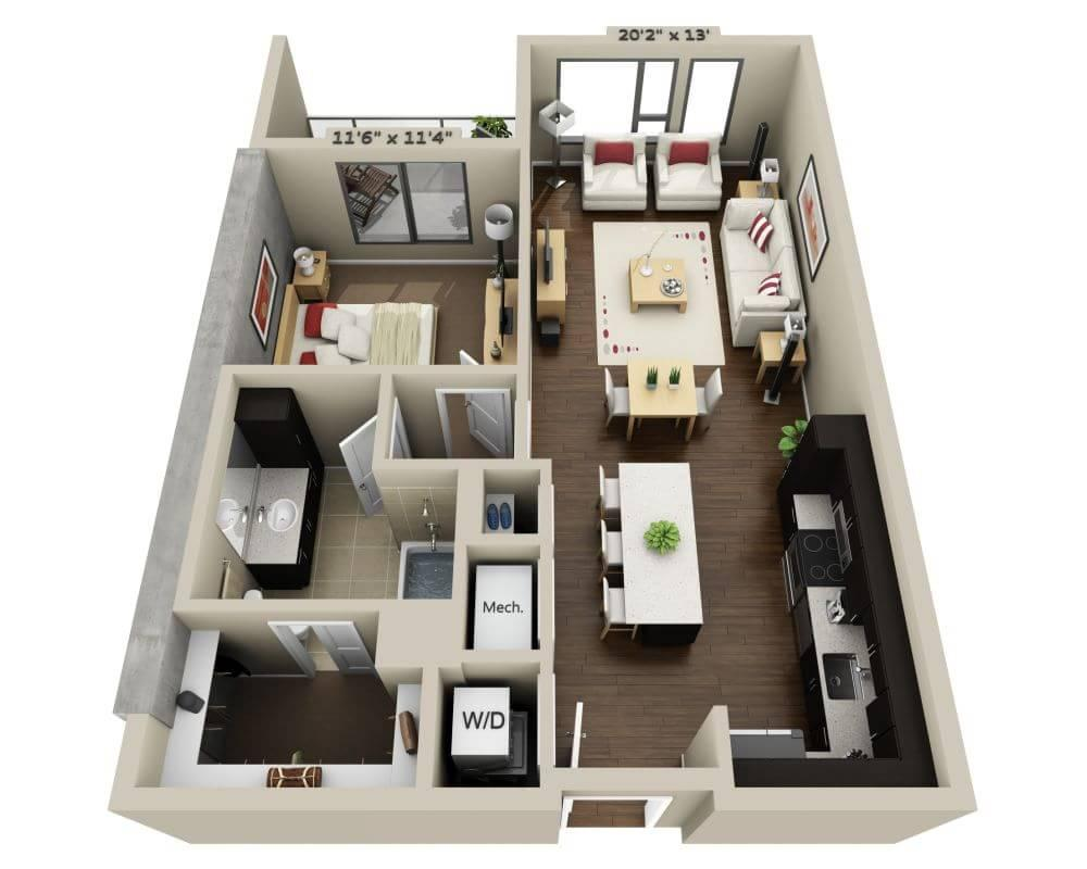$3945 One bedroom Apartment for rent
