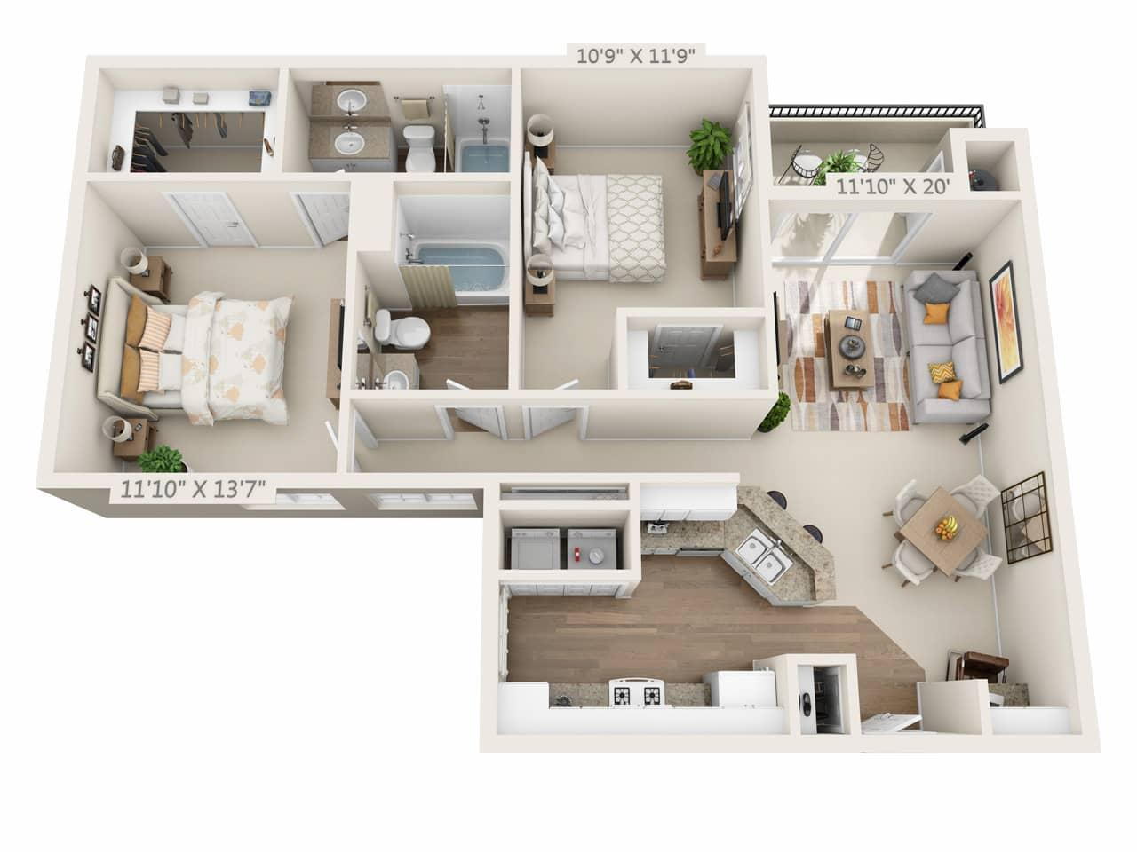 $2983 Two bedroom Apartment for rent