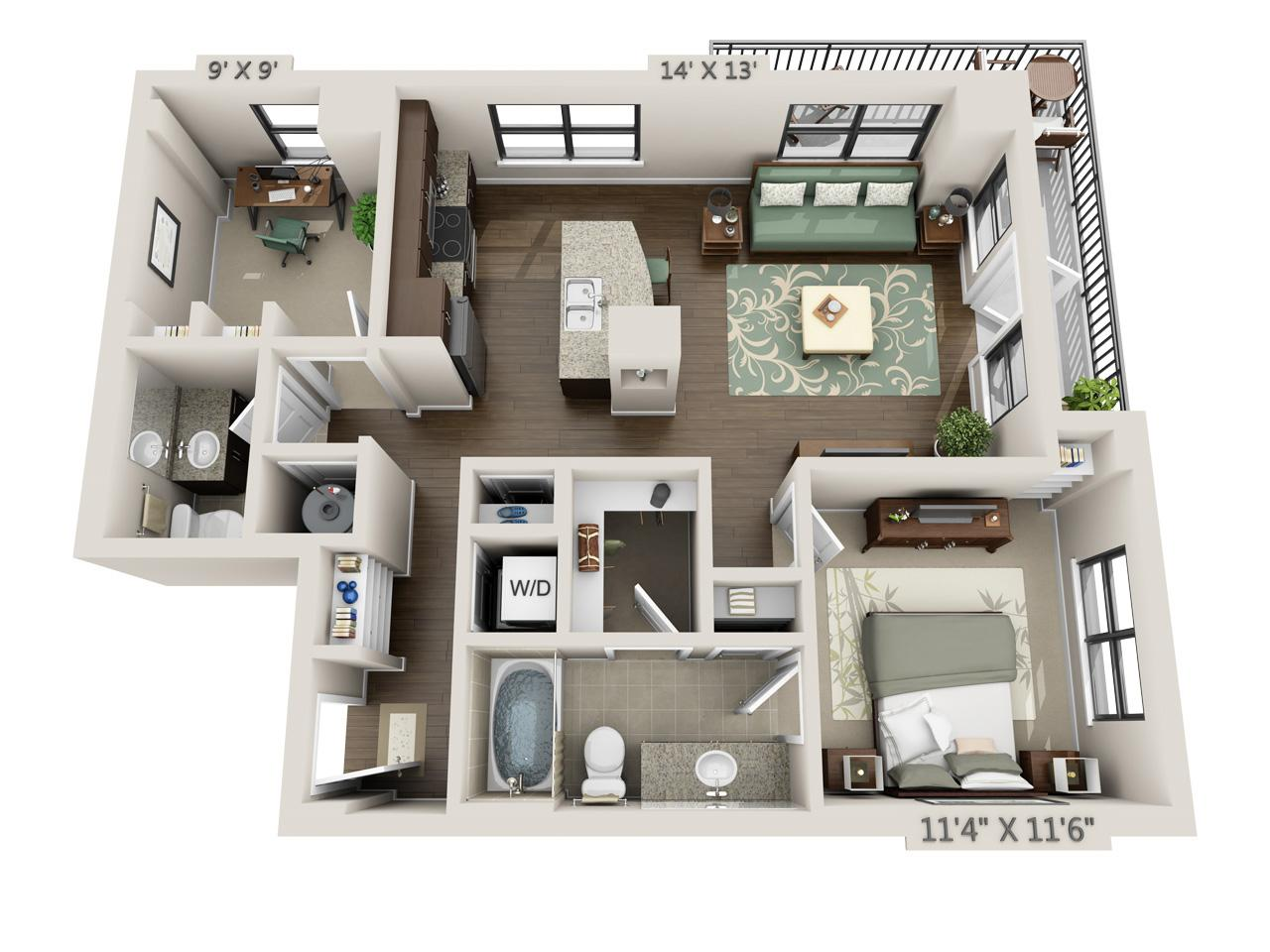 $1704 One bedroom Apartment for rent