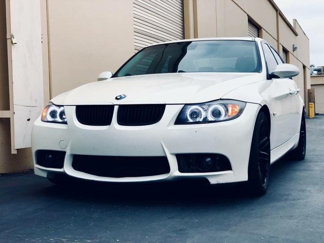 BMW 2006 e90 325i satin mystic pearl white terra dakota brown two tone interior