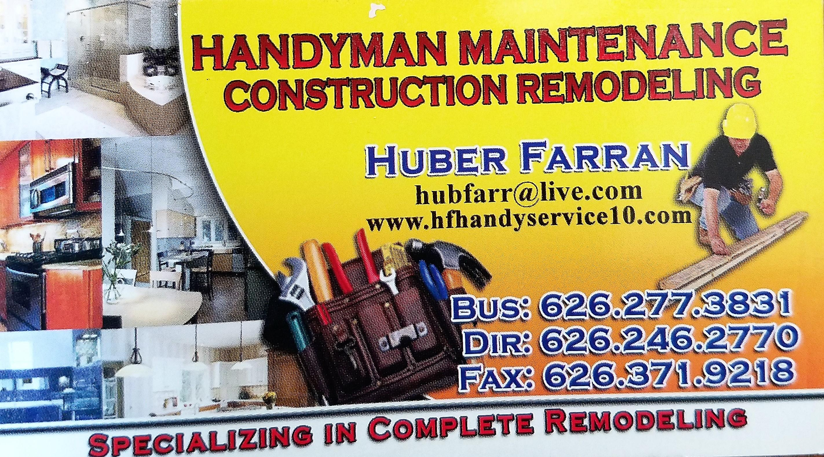 HANDYMAN MAINTENANCE CONSTRUCTION & REMODELING