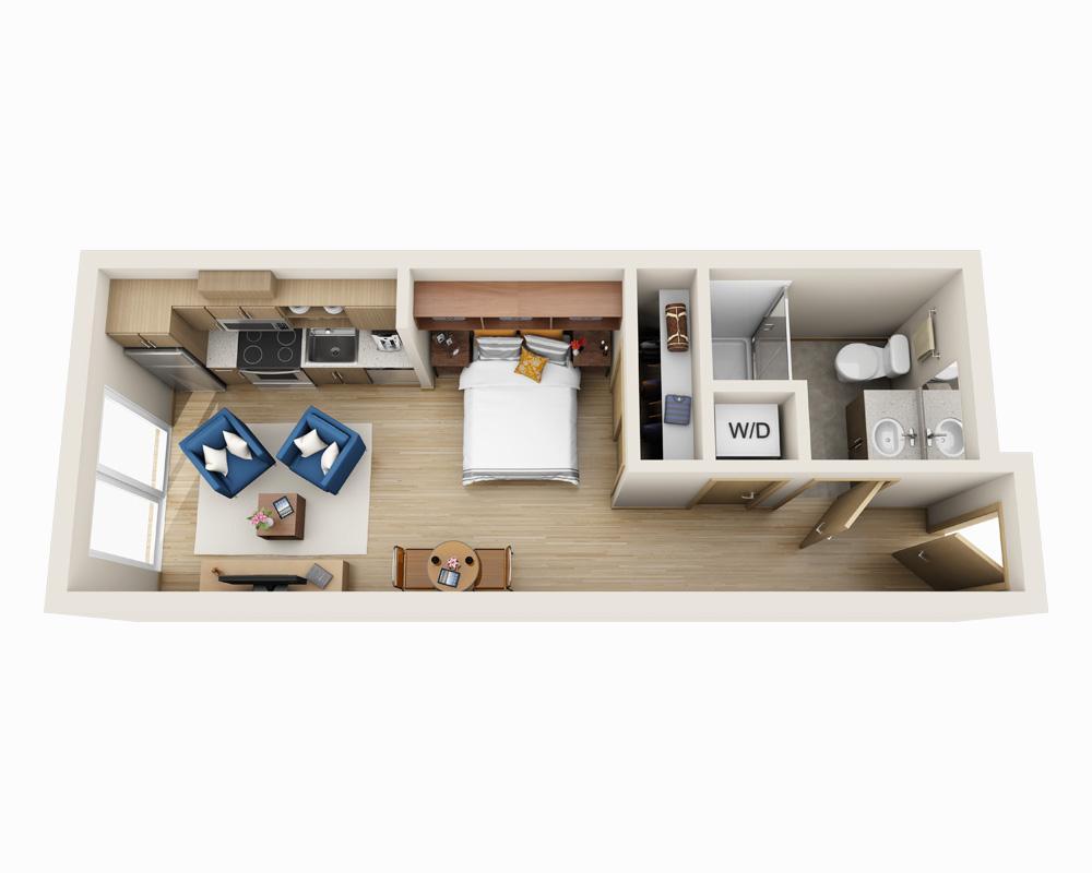 $1636 Studio Apartment for rent