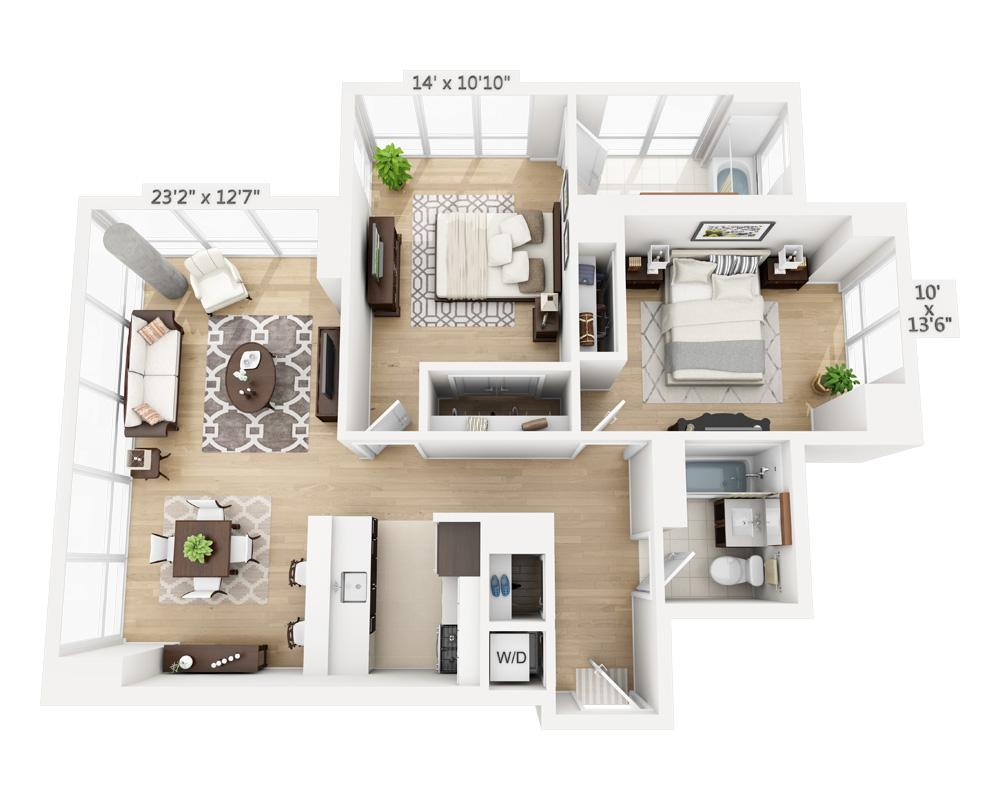 $6460 Two bedroom Apartment for rent