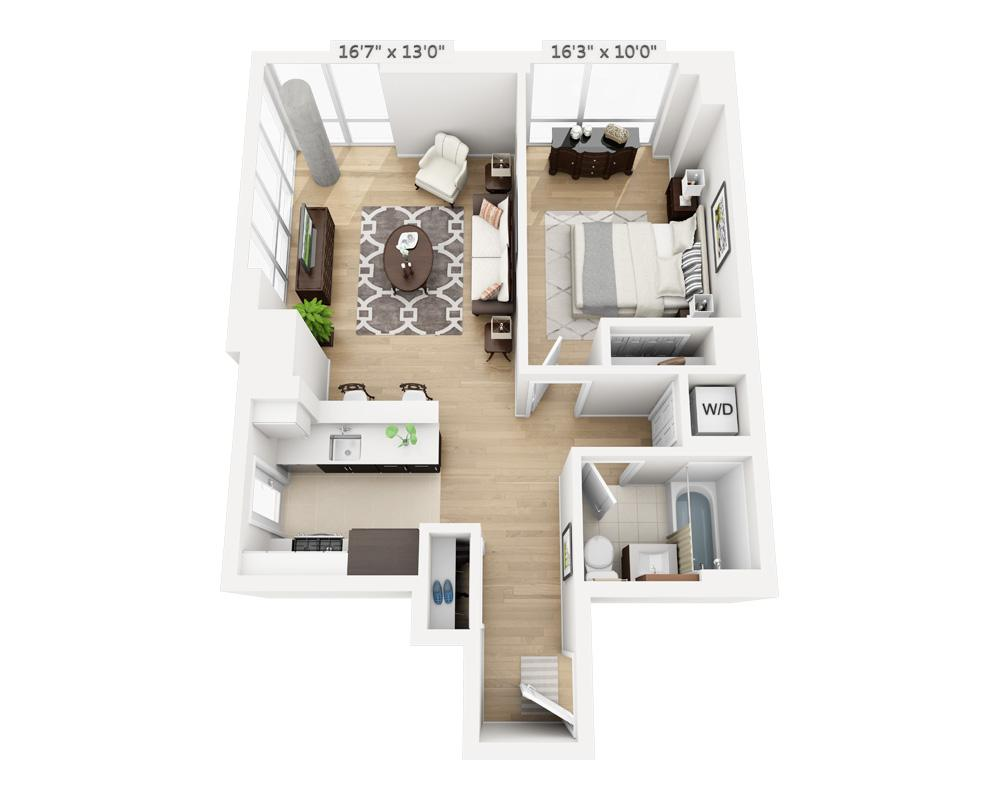 $3730 One bedroom Apartment for rent