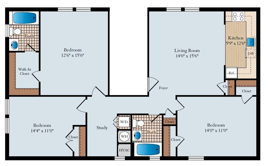 $2765 Three bedroom Apartment for rent