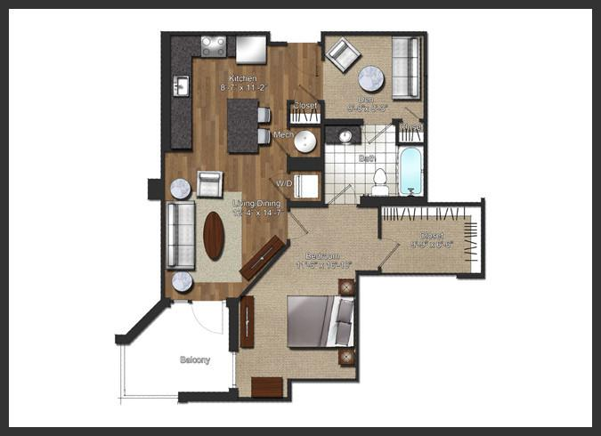 $2125 One bedroom Apartment for rent