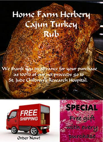Cajun Turkey Rub, Order now, FREE shipping & a free gift with every order