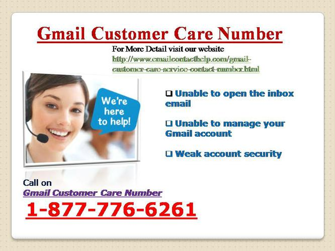 Unlimited Gmail Customer Support (TOLLFREE) @ 1-877-776-6261 Gmail Care Toll Free Number