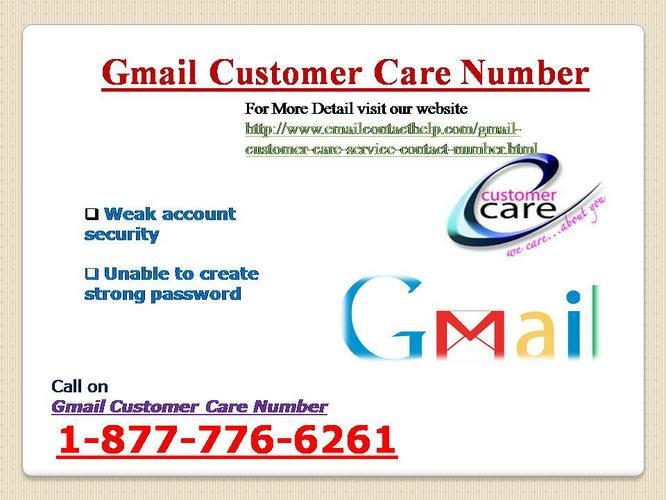 Gmail Customer Care @ 1-877-776-6261 Gmail Customer Care Contact Number