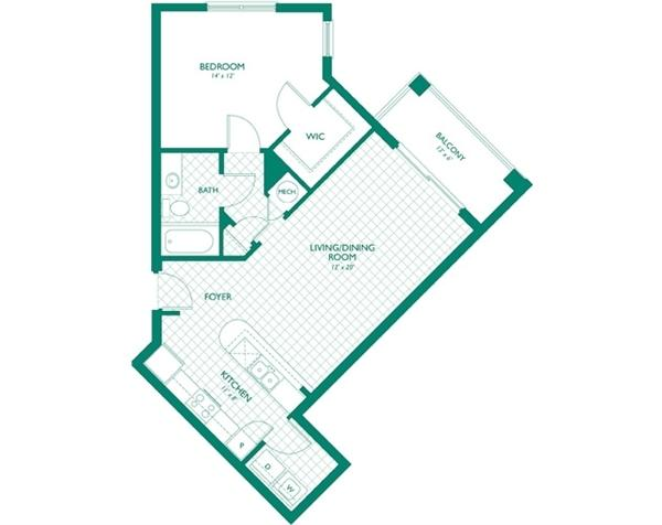 $1273 One bedroom Apartment for rent