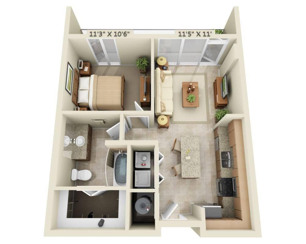 $1279 One bedroom Apartment for rent