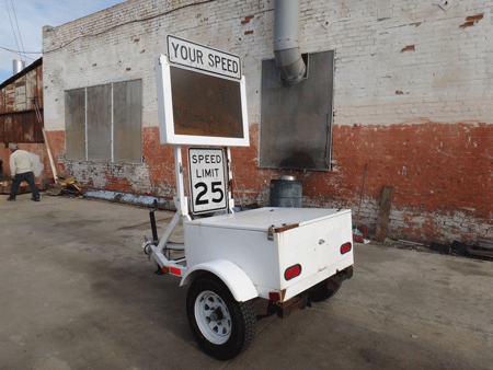KUSTOM SIGNAL, INC SMART 850 SPEED DISPLAY TRAILER