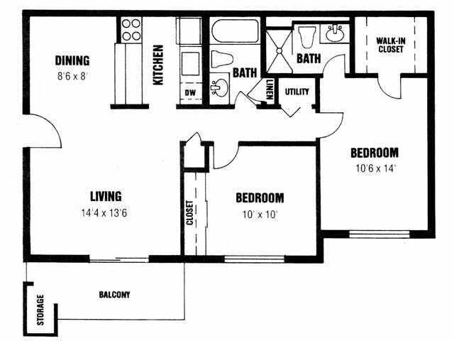 $740 Two bedroom Apartment for rent