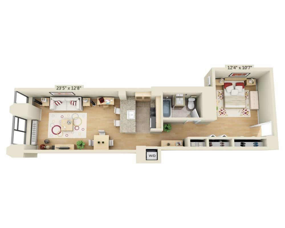 $3235 Studio Apartment for rent