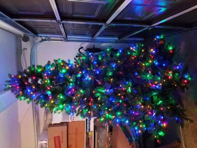 7.5' Artificial Evergreen Christmas Tree with Storage Bag