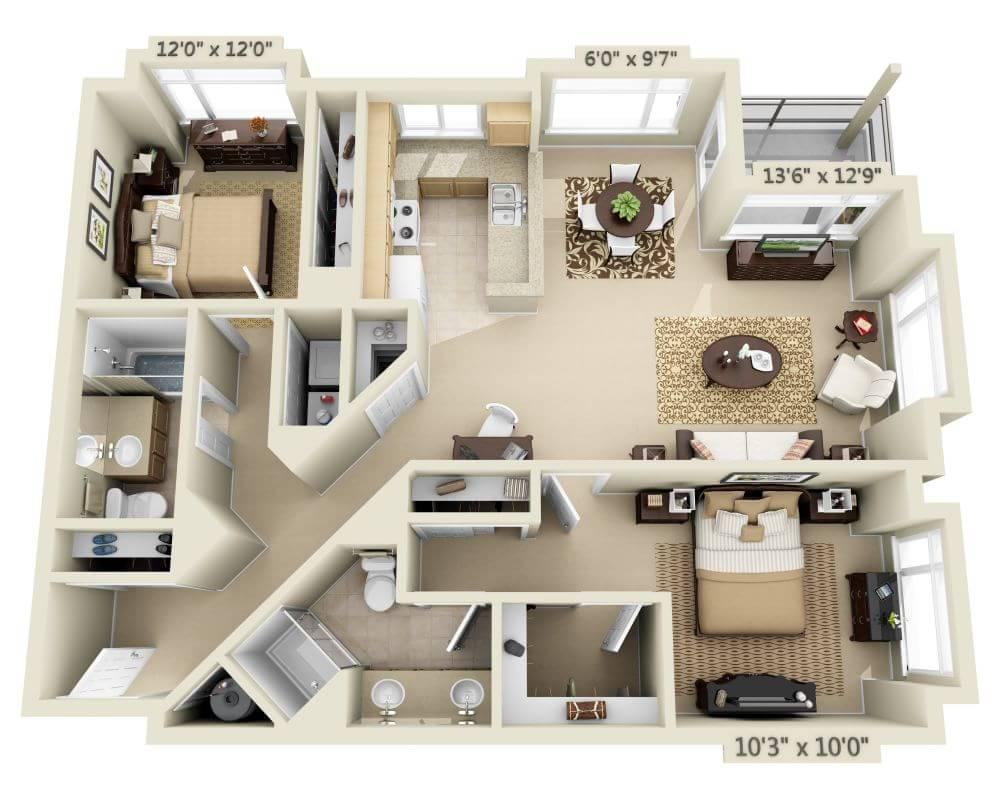$3136 Two bedroom Apartment for rent
