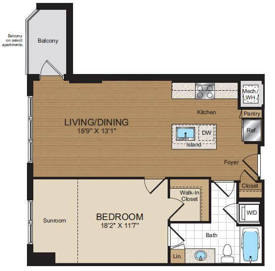 $5430 One bedroom Apartment for rent