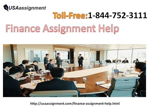 Finance Assignment Help Toll-Free:1-844-752-3111