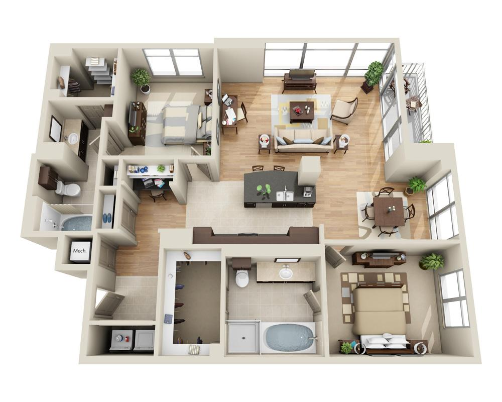 $4142 Two bedroom Apartment for rent
