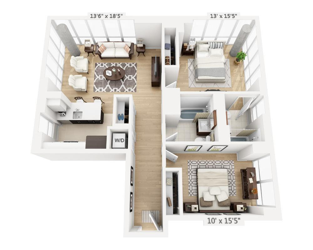 $5445 Two bedroom Apartment for rent
