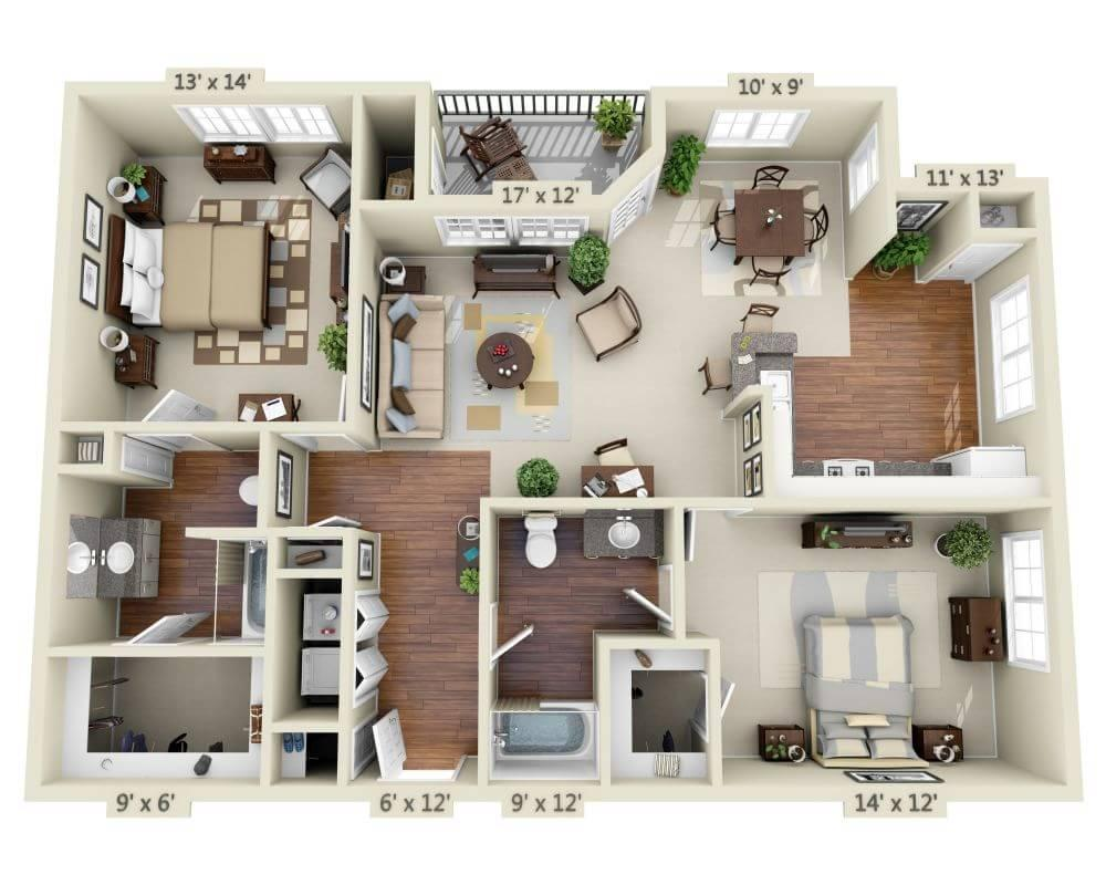 $3639 Two bedroom Apartment for rent