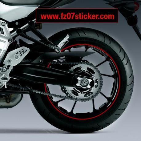 Yamaha FZ-07 / MT-07 wheel stripe stickers