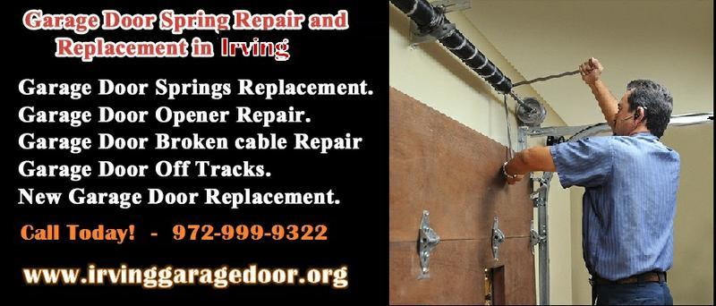 1 hour Emergency Garage Door Spring Repair $25.95 75039 Irving TX