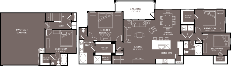 $2329 Four bedroom Apartment for rent