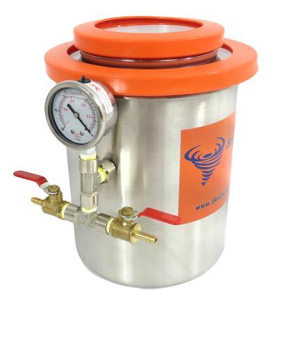 1.5 Gallon (2QT Tank) Dry Ice, Liquid Nitrogen Cold Trap
