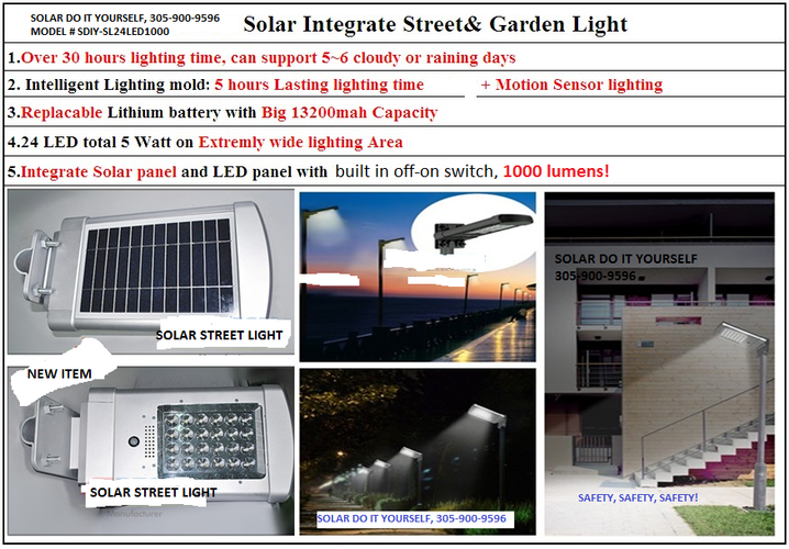 SOLAR STREET LIGHT/SECURITY LIGHT, NEW 2016 DOUBLE BRIGHT MODEL