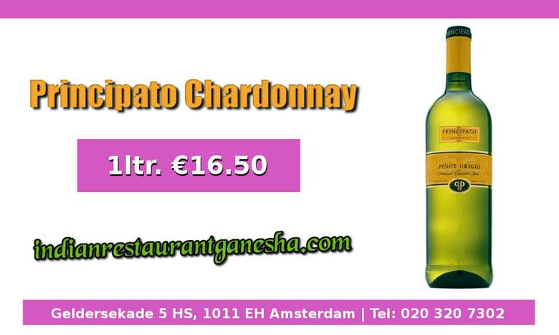 Principato Chardonnay| Ganesha Restaurant Amsterdam