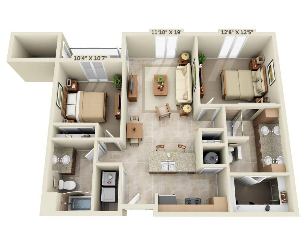$1771 Two bedroom Apartment for rent