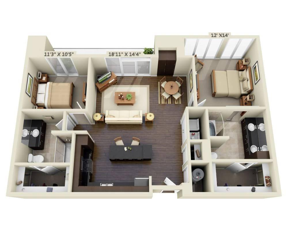 $2241 Two bedroom Apartment for rent
