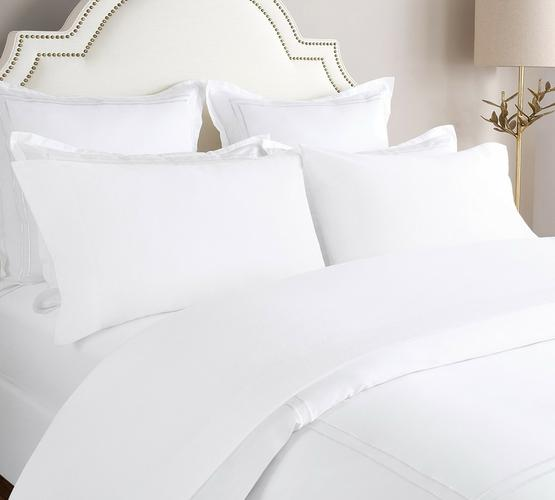 Flannel Bed Sheet In White Color