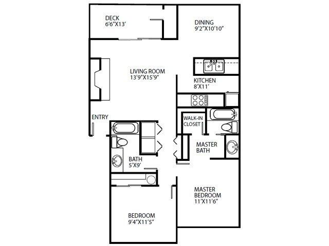 $1170 Two bedroom Apartment for rent