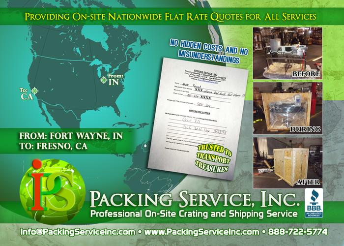 Custom Crating in Los Angeles, California - Packing Service, Inc