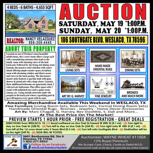 ***AUCTION*** WESLACO, TX - Everything Must Go In 2 Days!