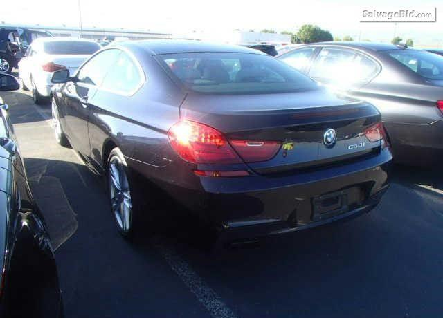 2012 BMW 650 for Sale at Salvage Title Cars Online Auction
