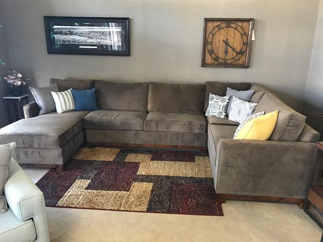 Large Custom Sectional With Chaise Made In The USA   $2199
