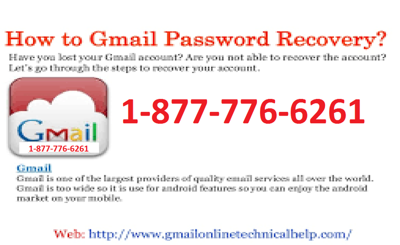 Strengthen Gmail Password Via 1-877-776-6261 Recover Gmail Password