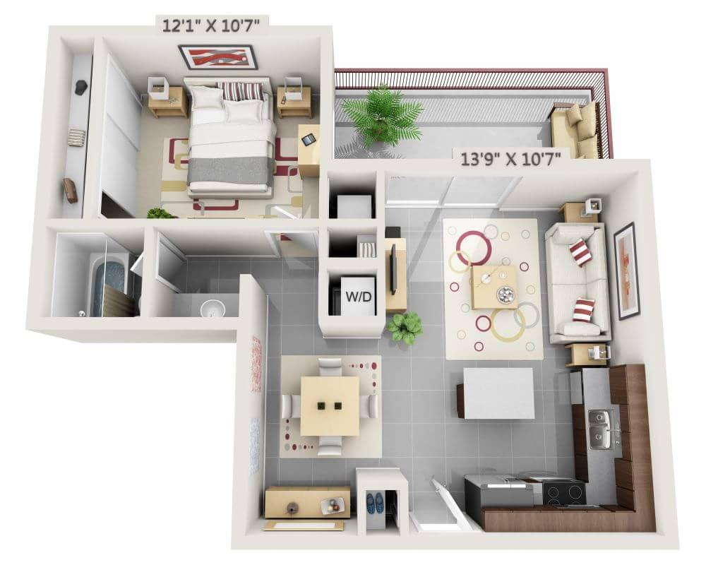$2802 One bedroom Apartment for rent