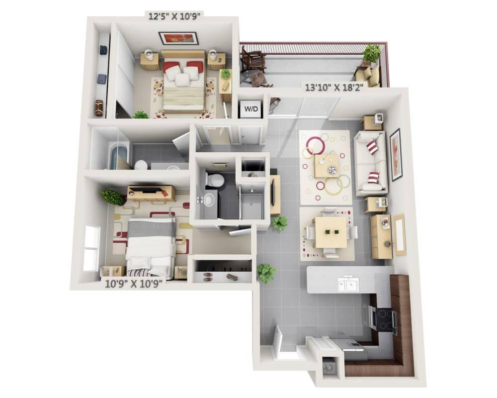 $3587 Two bedroom Apartment for rent