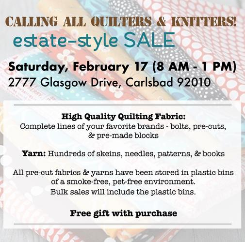 Quilting & Knitting Estate-style SALE