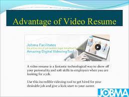 Advantage of Video Resume