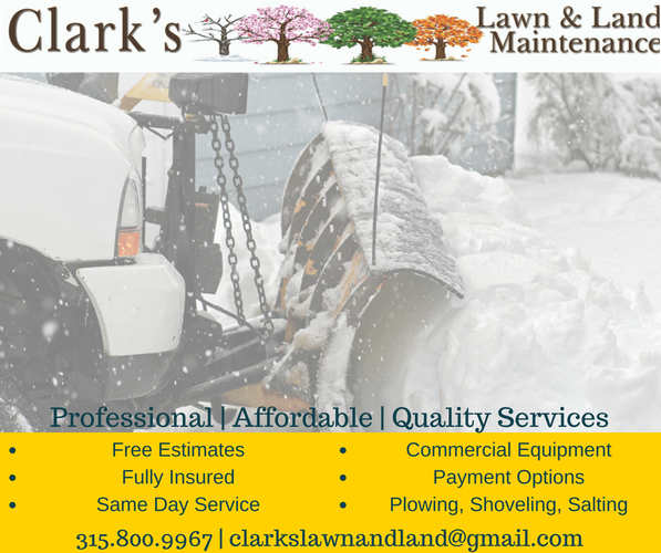 Snow Plowing, Shoveling and Salting
