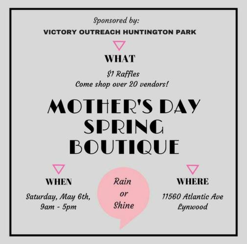 1DAY EVENT! MOTHER'S DAY SPRING BOUTIQUE